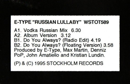 Type russian lullaby type