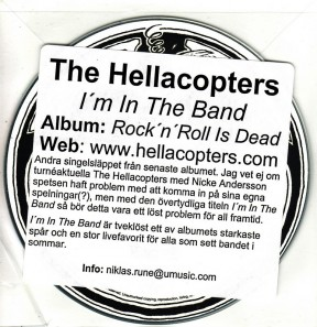RECORD PALACE : I'm in the band - Swedish CD-R promo CD5