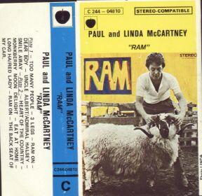 RECORD PALACE : Ram (as Paul & Linda Mccartney) Cassette